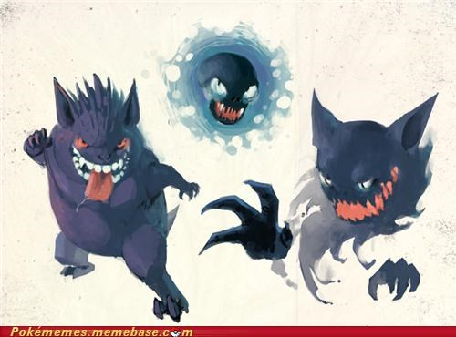 art,gastly,gengar,haunter,id rather not see,scary,silph scope