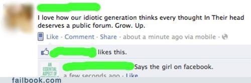 facebook Hypocrisy status - 5307541504
