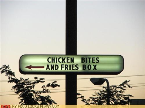 biting boxing chicken fries fighting mean sign - 5307709440