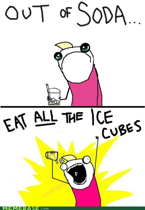 all the things,cubes,drink,happy,ice,Sad,soda