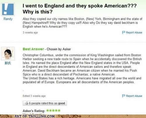 american england oh america Yahoo Answer Fails - 5307737344