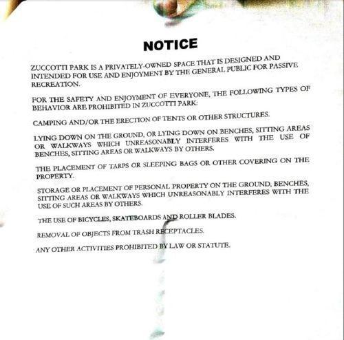 Breaking News Follow Up Occupy Wall Street The 99 Percent Zuccotti Park - 5307797248