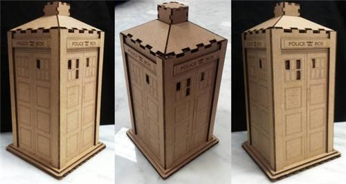 cardboard DIY doctor who laser cut tardis Toyz tv shows - 5307831808