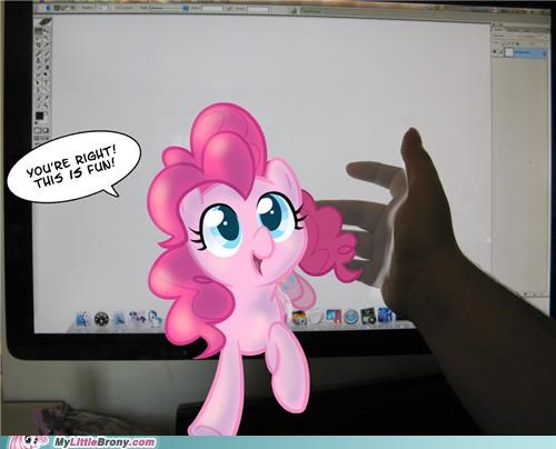 4th wall art best of week mane six pinkie pie through the screen - 5307857664