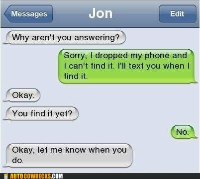ignoring,lost,lost phone,phone
