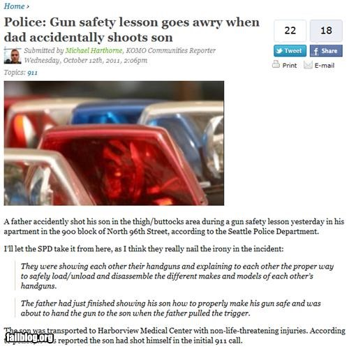 failboat g rated guns irony ouch parenting Probably bad News - 5307867392