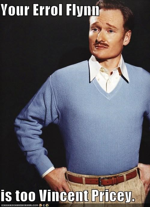 actor,actors,comedian,comedy,conan obrien,Errol Flynn,impersonation,roflrazzi,vincent price