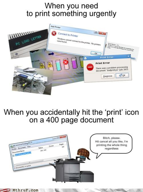 computers documents emergency Hall of Fame meme printer scumbag Scumbag Steve - 5307975424