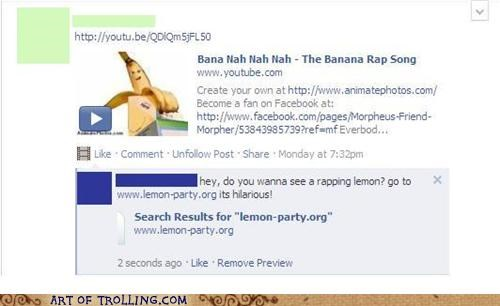 banana facebook lemon lemon party shock sites