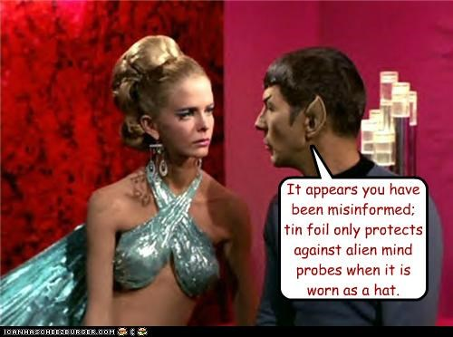 alien,Leonard Nimoy,misinformed,Spock,Star Trek,tin foil