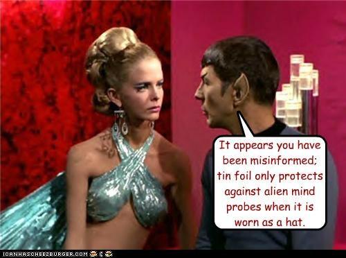 alien Leonard Nimoy misinformed Spock Star Trek tin foil - 5308115200