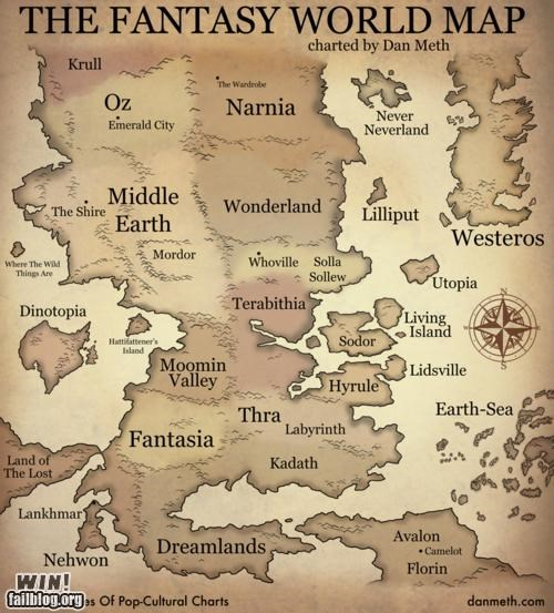 cartography fantasy Hall of Fame literature map pop culture television video games - 5308120576