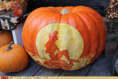 ariel,funny food photos,halloween,pumpkins,The Little Mermaid
