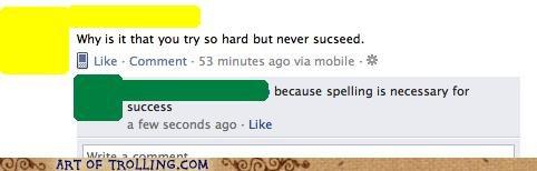 facebook FAIL spelling succeed - 5308194560