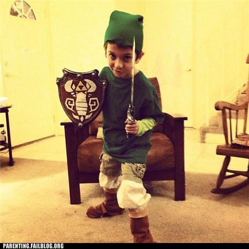 costume,legend of zelda,link,nerdgasm,nintendo,Parenting Fail,parenting WIN
