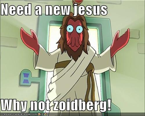 futurama jesus religion repent savior Zoidberg - 5308283136