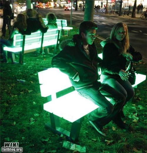 art bench design furniture light park - 5308375808