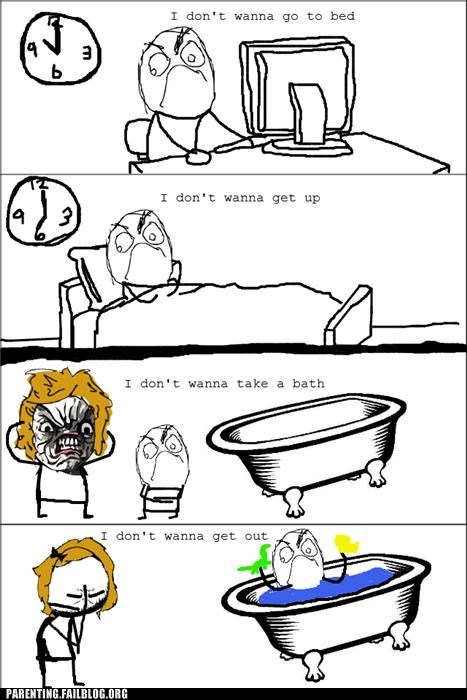 kids meme no Parenting Fail rage rage comic stubborn - 5308420864