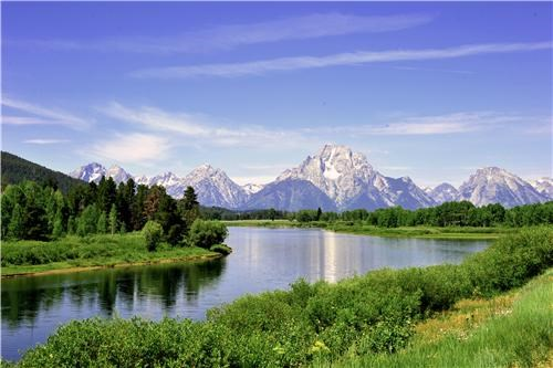 blue,getaways,grand teton national park,green,landscape,mountains,national park,north america,river,tetons,united states,water,Wyoming