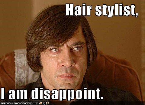 hair hairstyles Hall of Fame i am disappoint javier bardem Memes No Country For Old Men - 5308528128