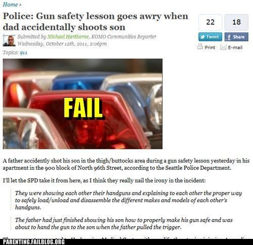 accident,bonding,father-son,gun safety,guns,Parenting Fail,Public Parenting News,weapons