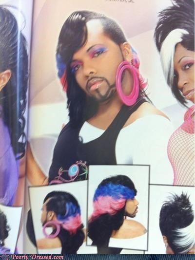 beard,cross dressing,earrings,weaves