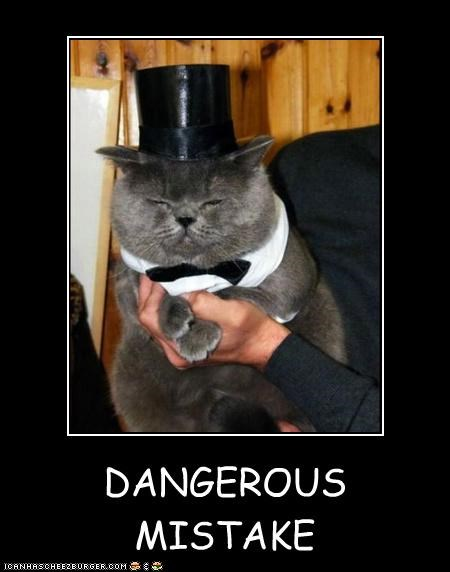 DANGEROUS MISTAKE I may look sophisticated and debonair but I am plotting your destruction.