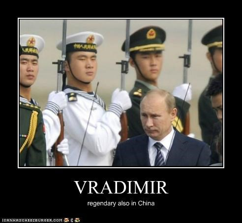 VRADIMIR regendary also in China
