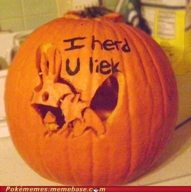 So I herd u liek pumpkin carving...
