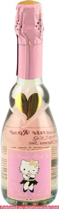 alcohol booze champagne heart hello kitty pink - 5309399040