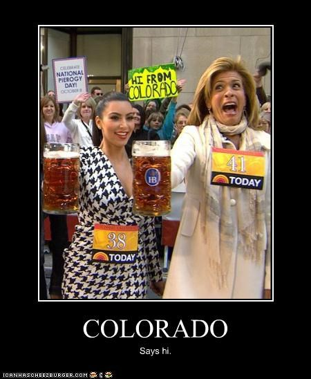 Colorado,hoda kotb,kim kardashian,signs,the today show