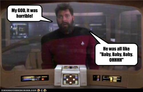 baby,horrible,Jonathan Frakes,justin bieber,Riker,Star Trek