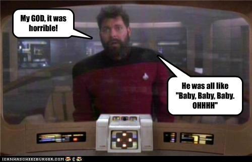 baby Jonathan Frakes justin bieber Riker Star Trek - 5309824256