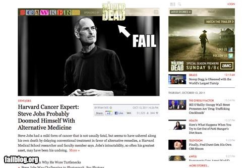 ad placement,apple,failboat,g rated,Probably bad News,steve jobs
