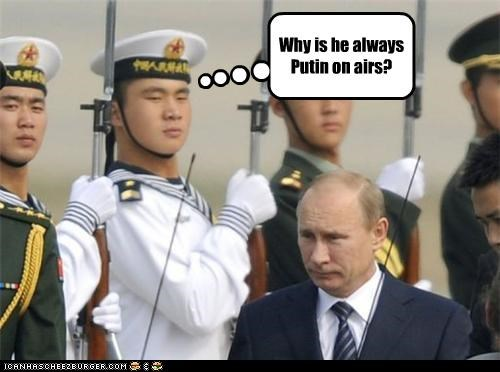 political pictures Vladimir Putin wordplay