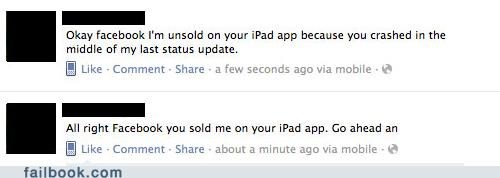 apps facebook ipad oops technology