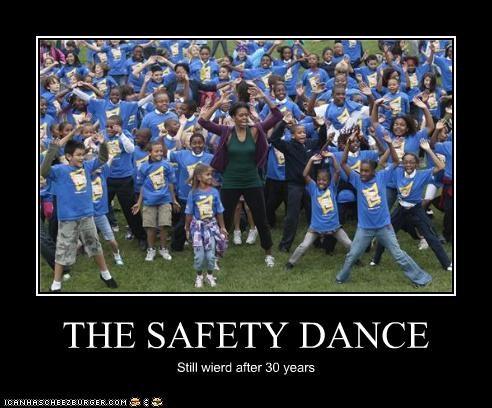 THE SAFETY DANCE Still wierd after 30 years