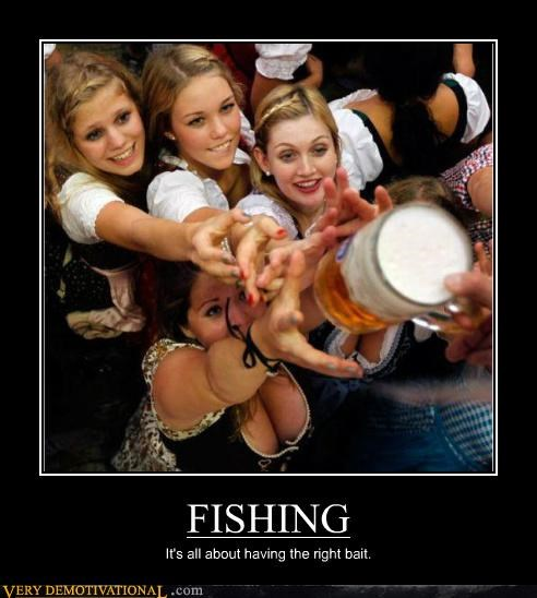 bait beer fishing hilarious Sexy Ladies - 5310671360