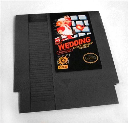 8 bit,Fan Art,larry quach,NES,Super Mario bros,video games,wedding invitations