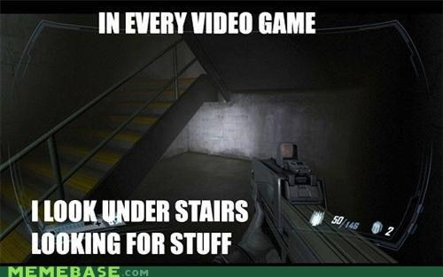 goodies,guns,Memes,real life,stairs,stuff,video games