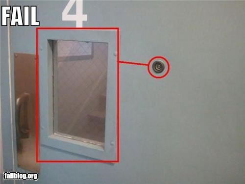 door,failboat,g rated,peephole,stupidity,unnecessary