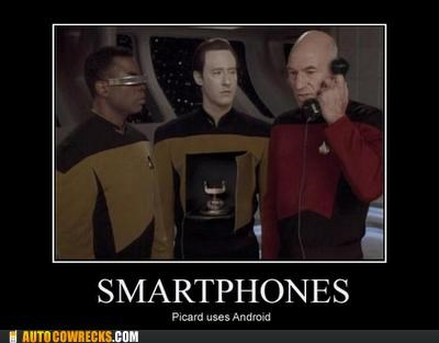 android data demotivational picard smartphones Star Trek - 5311261952