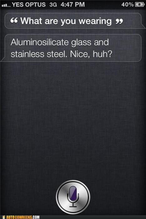 clothing,glass,siri,stainless steel,wearing