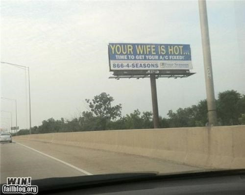 advertising,air conditioning,billboard,clever,highway,sign