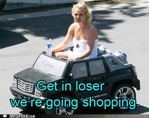 britney spears,car,celeb,kid car,loser,shopping,toy
