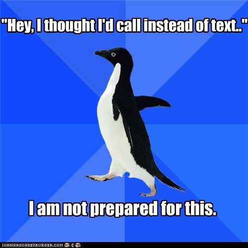 call phone preparation socially awkward penguin text - 5311575552