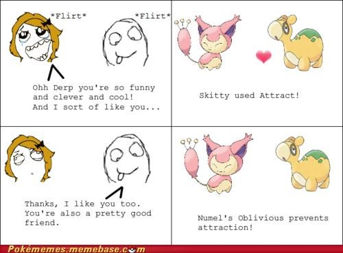 attract,derp,girls,numel,oblivious,rage comic,Rage Comics,skitty