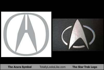 The Acura Symbol Totally Looks Like The Star Trek Logo Totally - Acura emblem