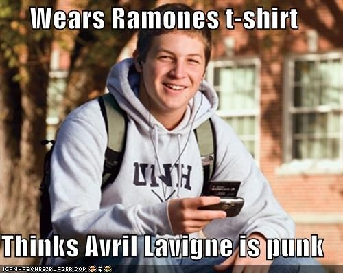 avril lavigne Music punk ramons shirt uber frosh - 5312143104