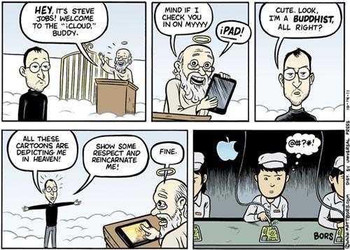 apple comics heaven ipad matt bors Nerd News steve jobs webcomics - 5312199424